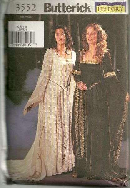 Butterick 3552 Misses Medieval Or Renaissance Dress