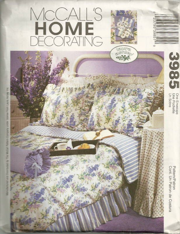 mccalls 3985 laura ashley bedroom accessories pattern oop mccall s sewing pattern home d 233 cor window treatment