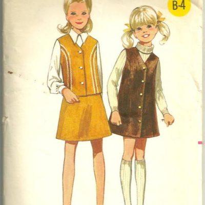 Girls Jumper, Skirt and Vest