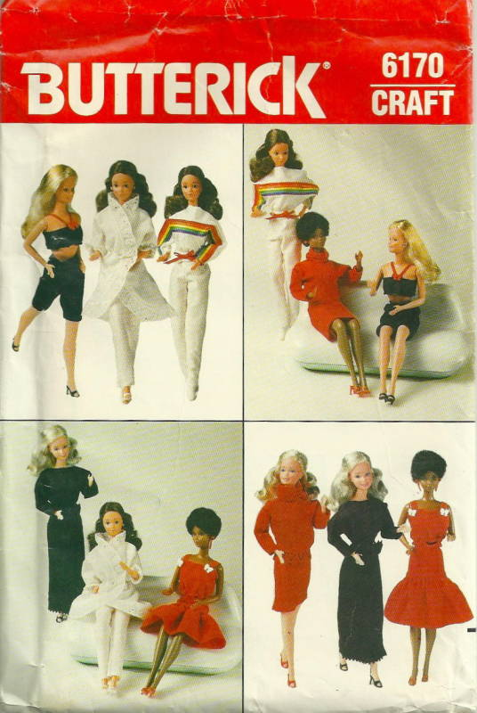 Butterick 6170 1970s Barbie Doll Clothes Pattern 11 1/2 Inch Fashion ...