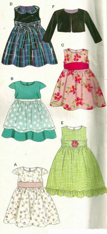 New Look 6448 Easy Girls Party Dress Jacket Sash And Apron