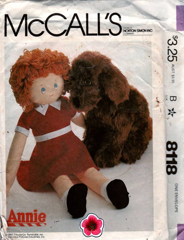 Mccalls 8118 1980s Sandy And Little Orphan Annie Doll