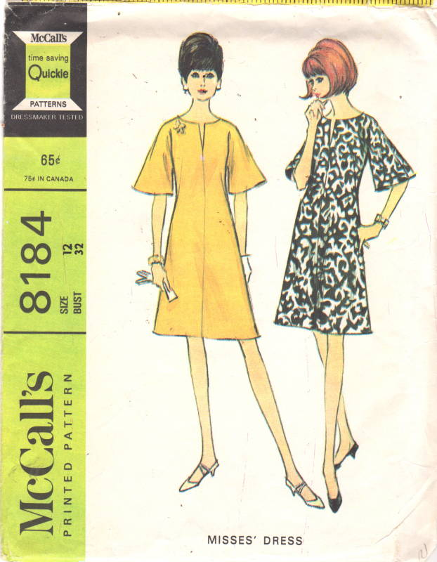 McCalls 40 40s Misses Mod Bell Sleeve Dress Pattern Womens Delectable Bell Sleeve Dress Pattern
