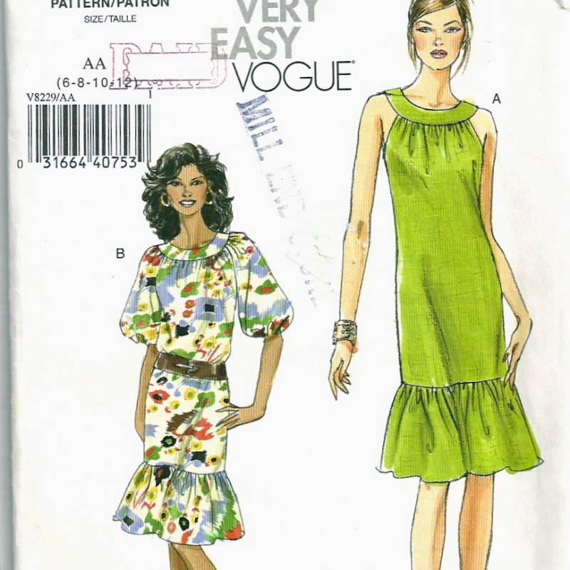 Size 12-14-16 Misses/' Dress UNCUT Vogue 9060 Very Easy Vogue Sewing Pattern