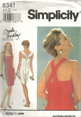 Simplicity 8341 Christie Brinkley Collection Easy to Sew Cocktail Dress Sewing Pattern