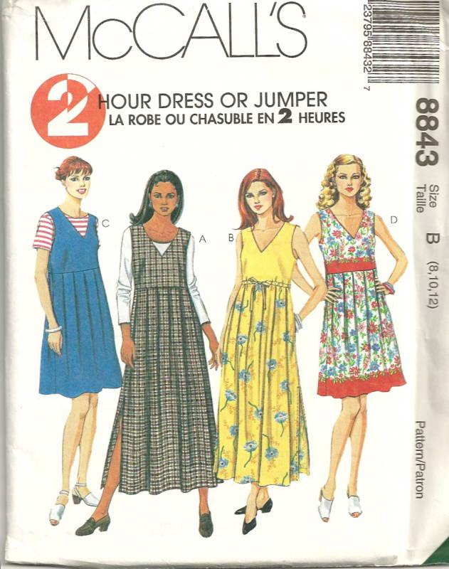 Mccall S 8843 Easy 2 Hour Pleated Empire Waist Dress Or