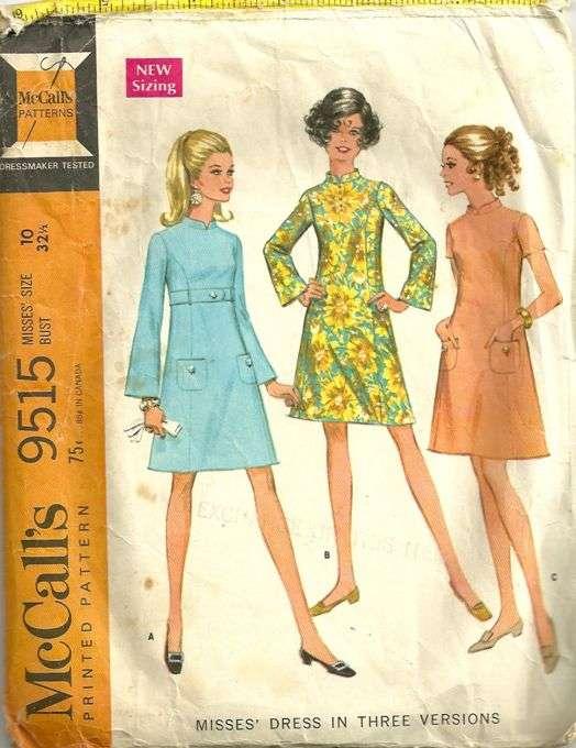 McCalls 40 Vintage 40s Princess Seam Band Collar Bell Sleeve Beauteous Bell Sleeve Dress Pattern