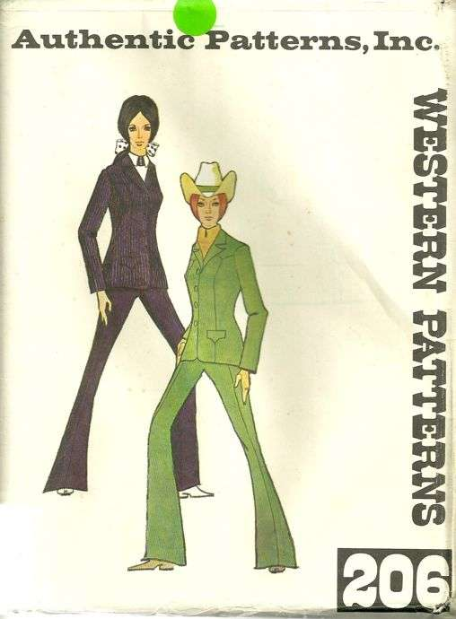 Authentic Patterns 206 Ladies Western Suit Pattern Princess Seam