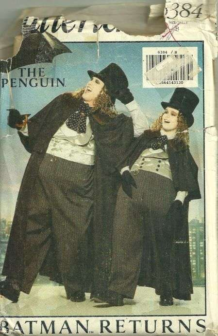 Butterick 6384 Batman Returns The Penguin 1990s Boys Costume Pattern ...