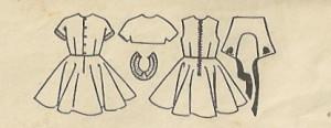 McCalls 1979 Girls Dress, Petticoat, Bolero and Detachable Collars b