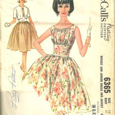 McCalls 6365 Cocktail Dress and Jacket