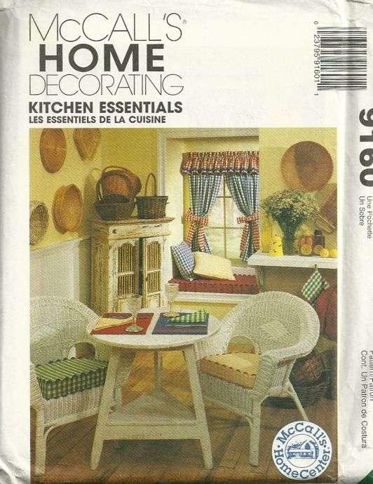 kitchen essentials home decorating pattern mccalls 9160