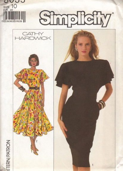 Vintage Simplicity Cathy Hardwick Dress in Two Lengths Misses/' 12 Bust 34
